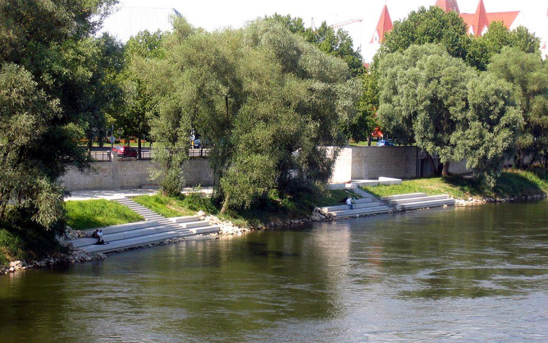 Donauufer am Altstadtrand Ingolstadt